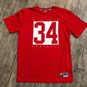 Nike #34 Football Red T-Shirt Excellent Condition